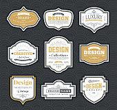 Frame classic template. Vintage contour blank frames and labels. Vintage elements design for cafe, restaurant, boutique, hotel, shop, jewelry. Vector retro elements