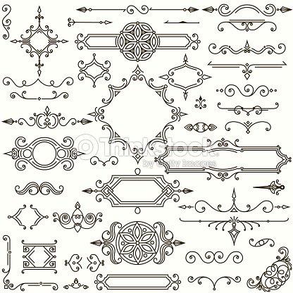 Retro design elements collection : stock vector