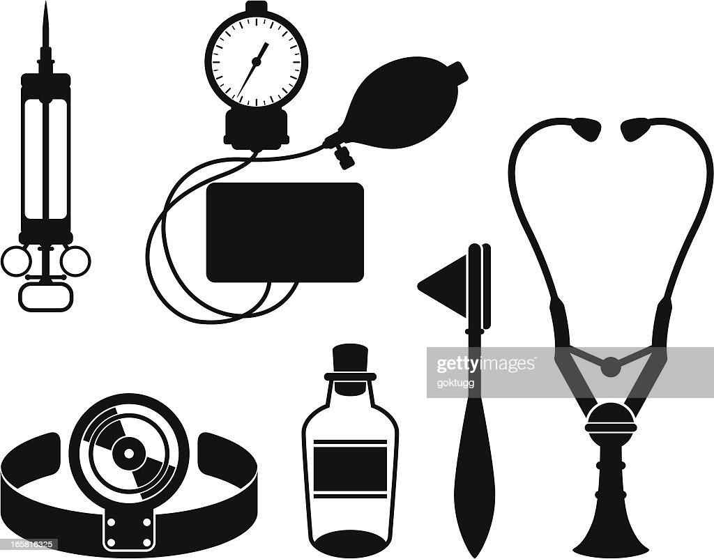 Retro Doctors Tools Vector Art | Getty Images