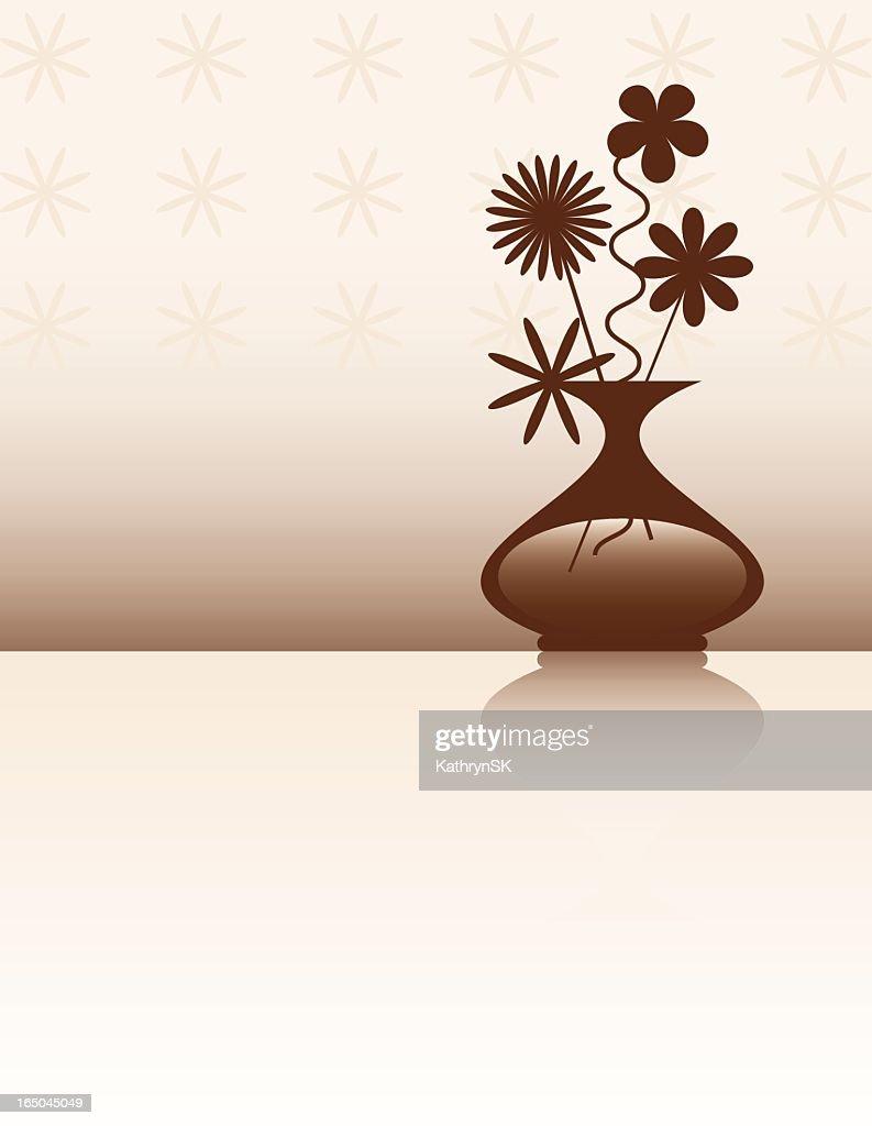 Retro Flower Vase Design Vector Art Getty Images
