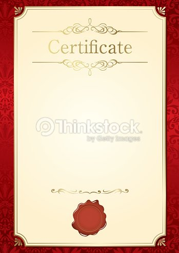 Retro Frame Customizable Certificate Template Vector Art Thinkstock
