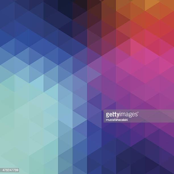 Retro hexagon abstract background