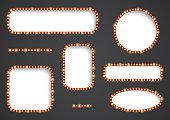 Vector frame with light effect. Illustration in vintage style for dalneyshgo design and your label. Retro sign.