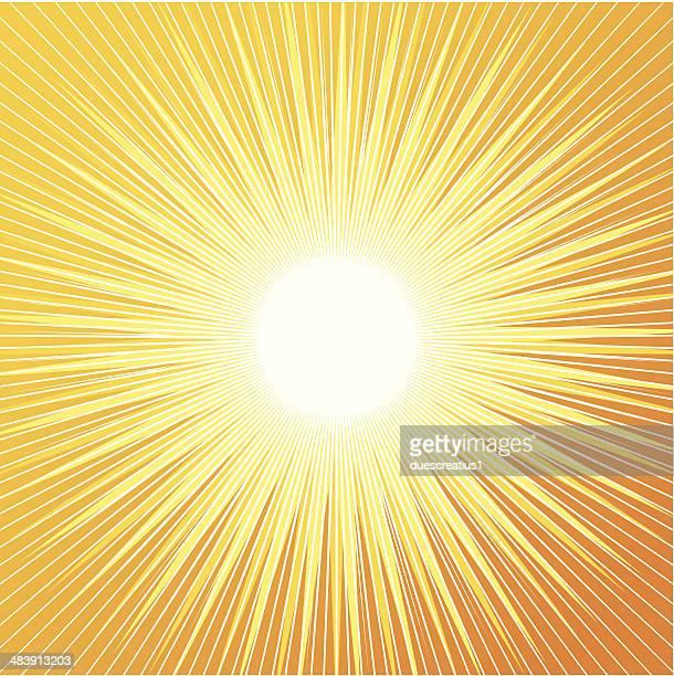 Radial fond de soleil rétro