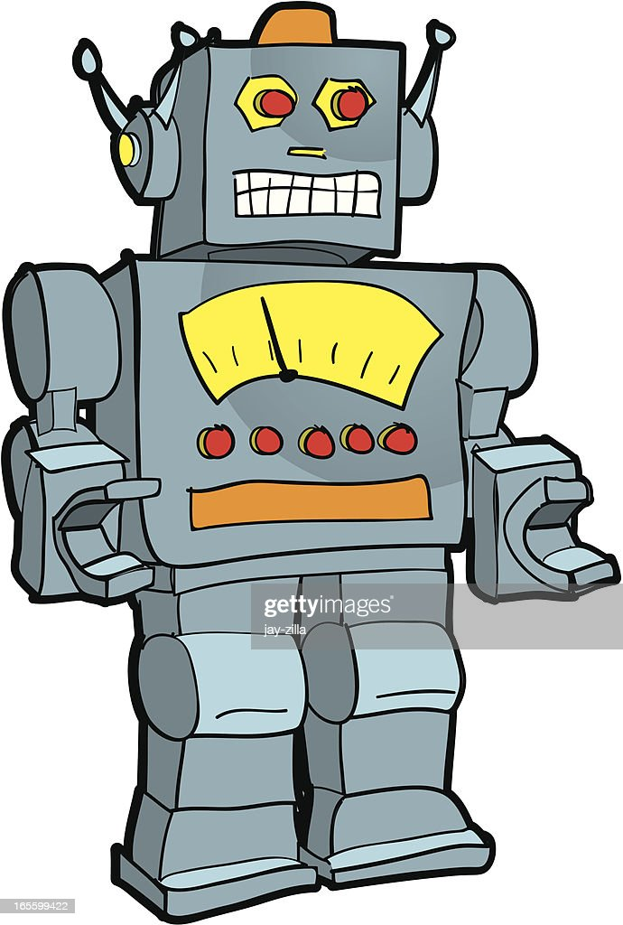 retro robot illustration vector art getty images