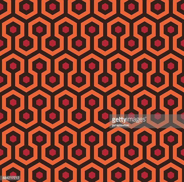 Retro Seamless Hexagon Pattern