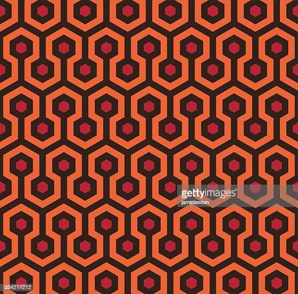 retro de patrones sin fisuras hexagonal