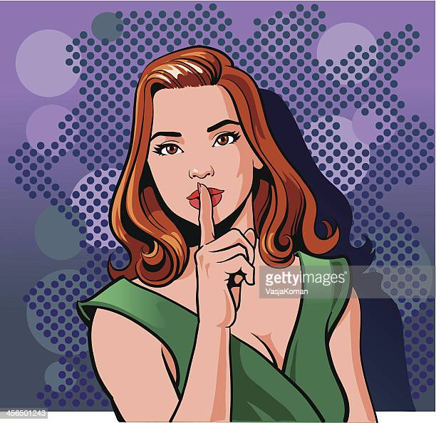 Retro Style Woman is Requesting Silence