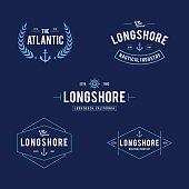 an amazing Retro Styled Nautical Store Design illustration Collections