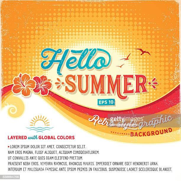 Retro Summer Background