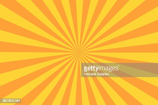 Retro sunburst ray in vintage style. Abstract comic book background : Vector Art