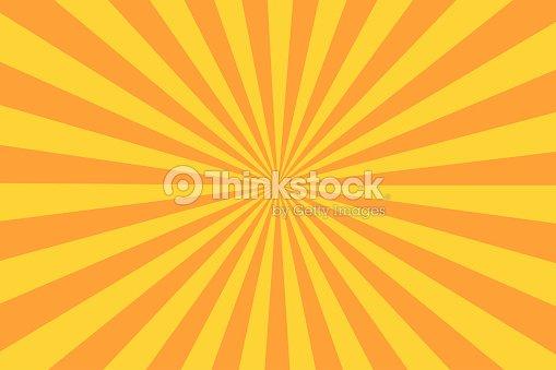 Ray sunburst rétro style vintage. Fond Abstrait bande dessinée : clipart vectoriel