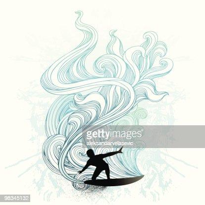 Retro surf : Vector Art
