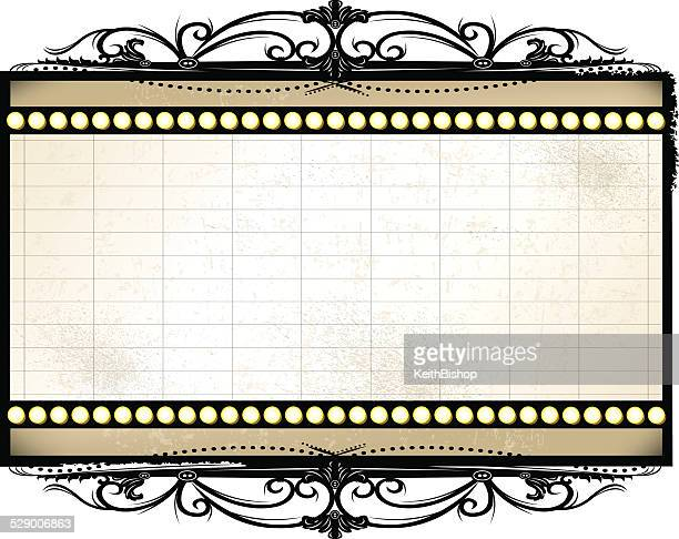 Retro Theater Marquee Background