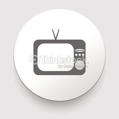 Retro Tv Icon Vector Art   Thinkstock