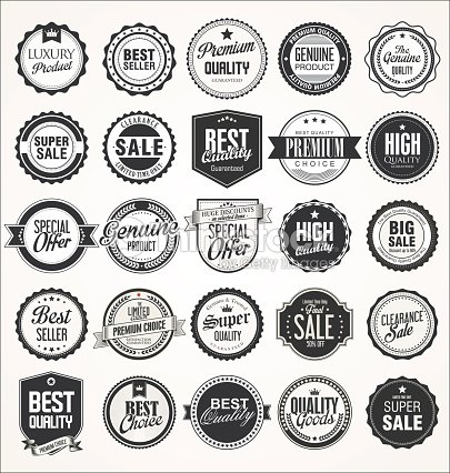 Retro vintage badges collection : stock vector