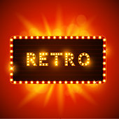 Retro sign waiting for your message! Vector illustration. EPS10 file with transparencies.