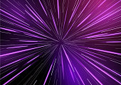 Fast moving at light speed -  retro warp star beams! Abstract vector background.
