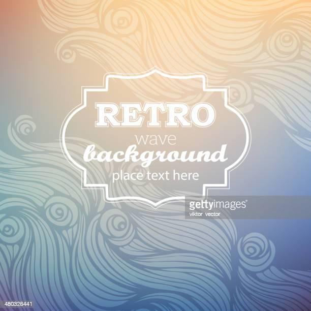 Retro-wave Hintergrund