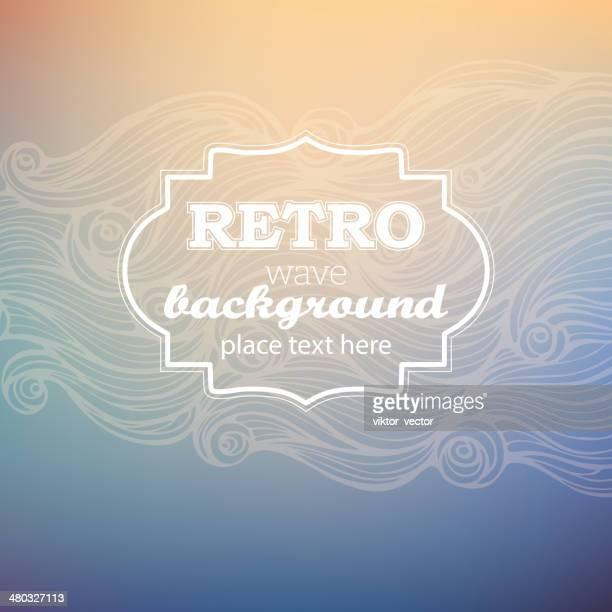 Retro wave background