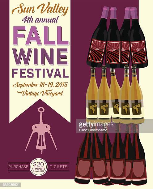 Retro Wine Tasting Event Invitation Poster Template