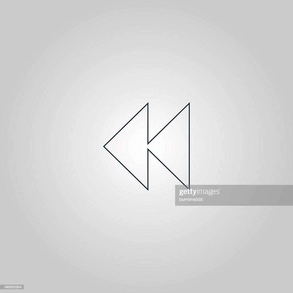 Icône retour arrière : Clipart vectoriel