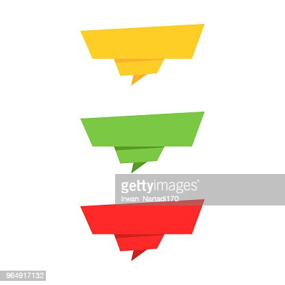 Ribbon Banner Set Colorful Ribbons In Flat Style Vector Art Thinkstock