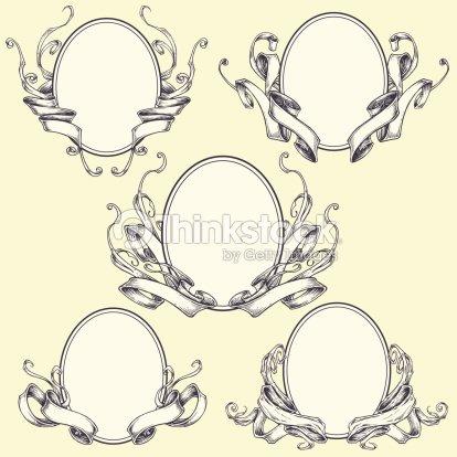 Ribbon Frame And Border Ornaments Vector Art | Thinkstock