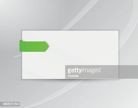 ribbon or bookmark with blank paper : Vector Art