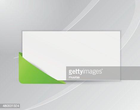Band oder Lesezeichen mit leeren Papier : Vektorgrafik
