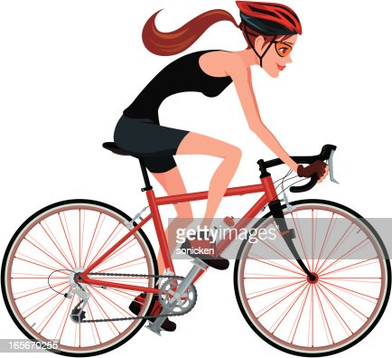 Riding A Bicycle Vector Art | Getty Images