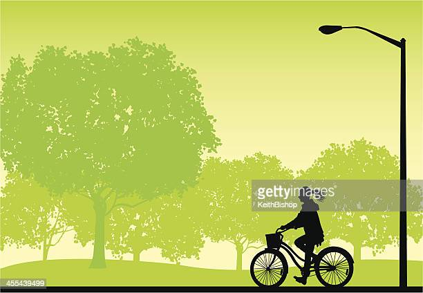 Riding Bicycle  - Girl in Park