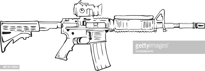 how to draw a rifle