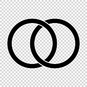 Circles, rings concept icon