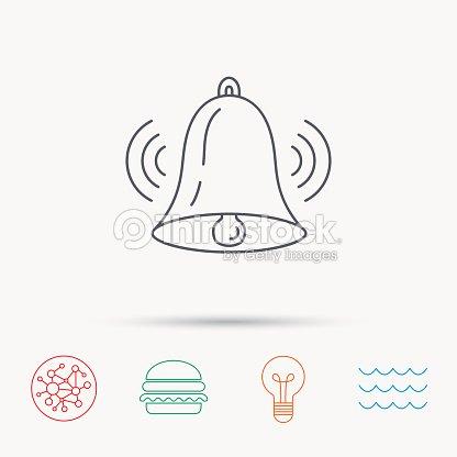 Ringing Bell Icon Sound Handbell Sign stock vector - Thinkstock