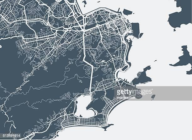 Rio De Janeiro Stadt Karte