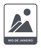 rio de janeiro icon vector on white background, rio de janeiro trendy filled icons from Culture collection