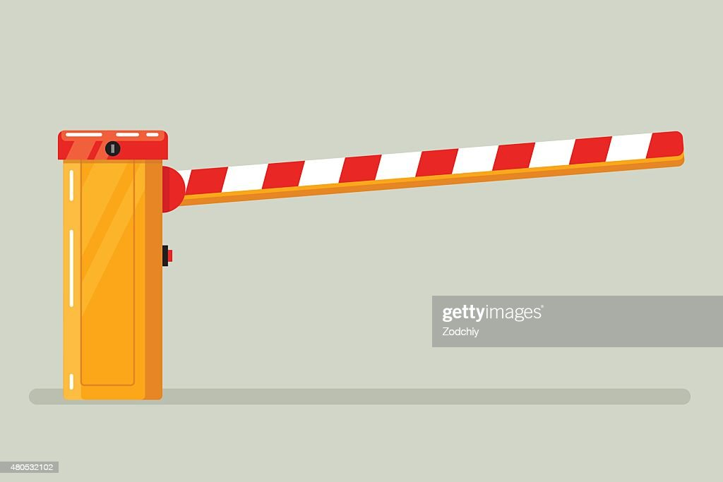 Road classical  barrier sign : Vector Art