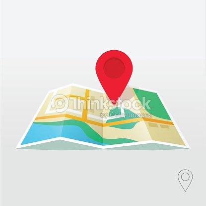 Road Map Pointer Vector Gps Navigation Locator New Roadmap ...
