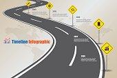 Design template, Road map Timeline Infographic, Vector Illustration