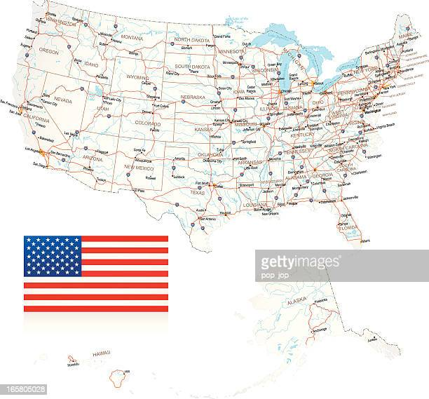 USA - Road Map