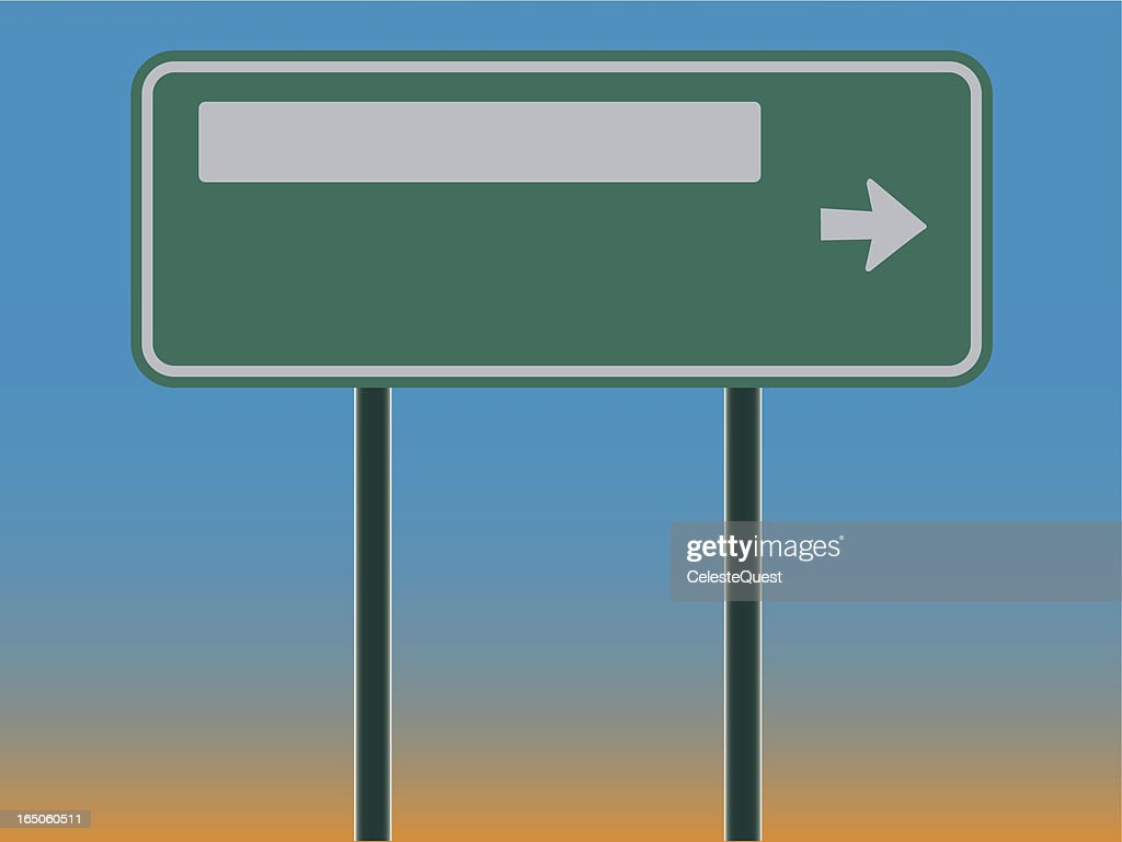 road sign blank vector art getty images