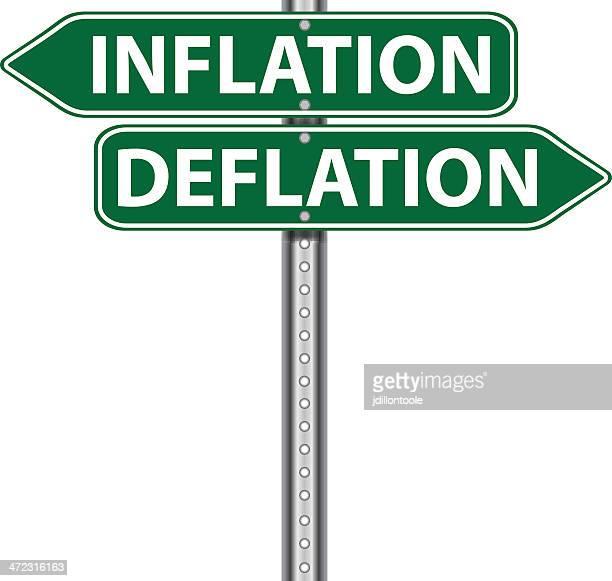 Road Sign | Inflation Deflation