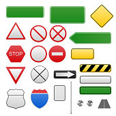Road signs in vector