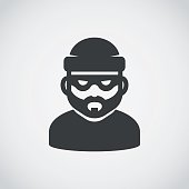 Robber icon. Bandit.
