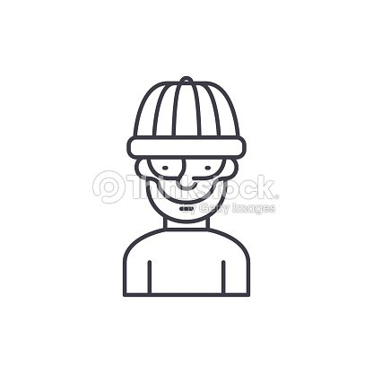 2b82a0023df Robber Line Icon Concept Robber Vector Linear Illustration Symbol ...