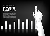 Business concept for machine learning , a.i artificial intelligence and disruption.