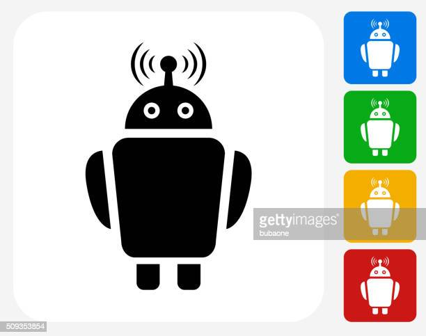 Robot Icon Flat Graphic Designs Icon Flat Graphic Design