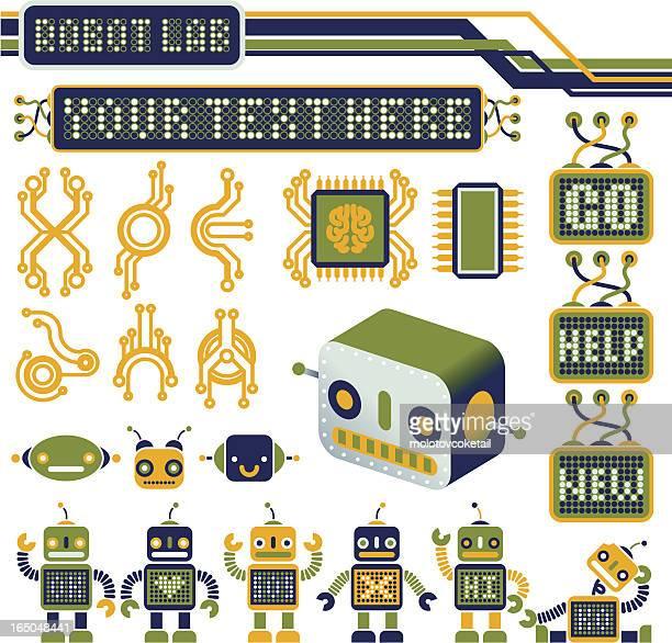 robot laboratory (vector design elements)