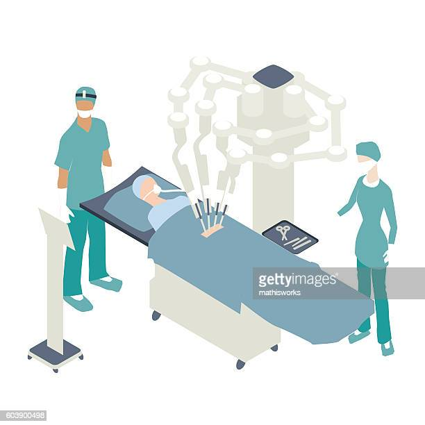 Robotic surgical system illustration